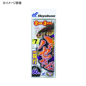 ハヤブサ(Hayabusa) ハゼだぜ 簡単投げ 2本鈎3セット NT601 仕掛け