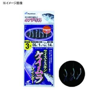 ハヤブサ(Hayabusa) 小アジ専科 ツイストケイムラレインボー 6本鈎 鈎9/ハリス3 白 HS303
