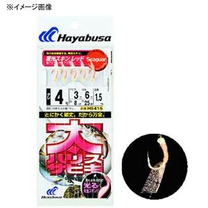 ハヤブサ(Hayabusa) 太ハリスサビキ 蓄光スキン レッド HS415