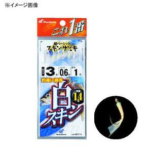 ハヤブサ(Hayabusa) これ一番 白スキンサビキ 6本針 鈎6/ハリス1.5 金 HS711