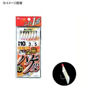 ハヤブサ(Hayabusa) これ一番 金袖針 ハゲ皮サビキ 6本針 鈎3/ハリス0.6 金 HS713 3-0.6