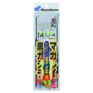 ハヤブサ(Hayabusa) 投げの達人 遊動式2セットマガレイ・クロガシラ 鈎14/ハリス5 金 NB366