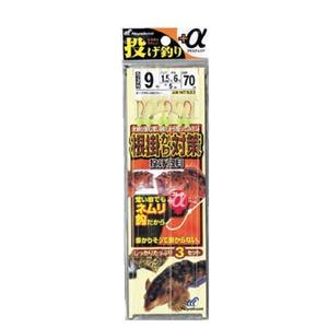ハヤブサ(Hayabusa) 投げ釣り+α 根掛かり対策 投げ五目 鈎9/ハリス1.5 金×赤 NT533