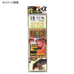 ハヤブサ(Hayabusa) 投げ釣り+α 根掛かり対策 投げ五目 鈎13/ハリス3 金×赤 NT533