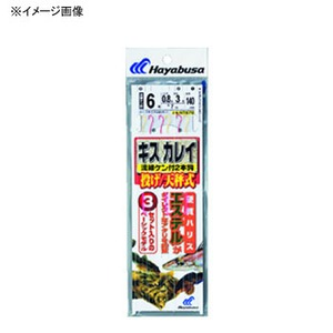ハヤブサ(Hayabusa) 投げキス・カレイ天秤式 金&赤鈎2本鈎3セット 鈎10/ハリス2 金x赤 NT670