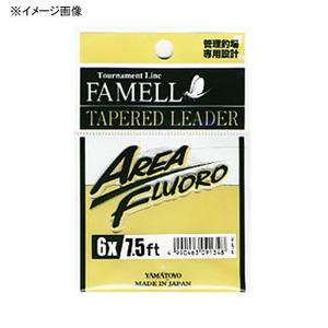 ヤマトヨテグス(YAMATOYO) エリアフロロ テーパーリーダー 7.5フィート 4X 透明