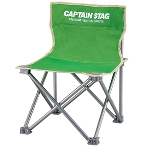 キャプテンスタッグ(CAPTAIN STAG) パレット コンパクトチェアミニ チェアー/椅子/キャンプ/レジャー用 ライトグリーン M-3917