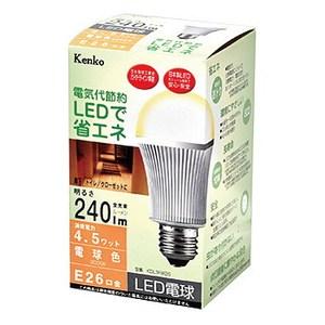 Kenko(ケンコー) LED電球 電球色 4.5W KDL3FW26