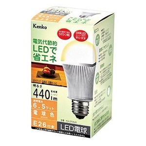 Kenko(ケンコー) LED電球 電球色 6.5W KDL5FW26