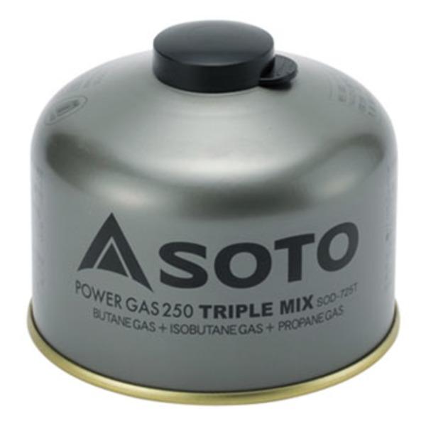 SOTO パワーガス250トリプルミックス SOD-725T キャンプ用ガスカートリッジ