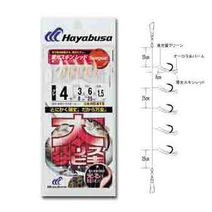 ハヤブサ(Hayabusa) 太ハリスサビキ 蓄光スキンレッド HS415