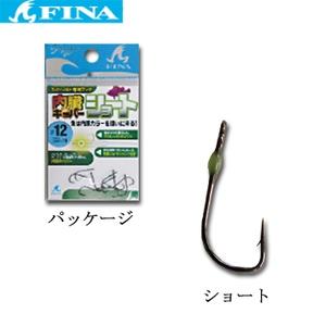 ハヤブサ(Hayabusa) ライトソルト専用フック 内臓キーパーショート 12 グリーン FS112-12