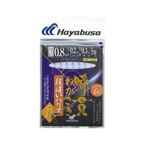 ハヤブサ(Hayabusa) 瞬貫わかさぎ 段違いハリス2段 6本 鈎0.8号 C247