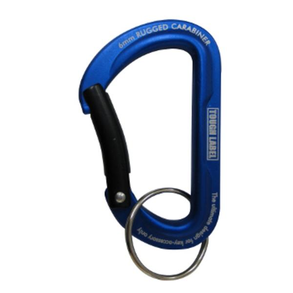 ベルモント(Belmont) カラビナラッジド 6mm青×黒 VEX-134 ピンオンリール・キーホルダー・カラビナ
