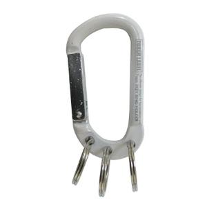 ベルモント(Belmont) カラビナ&3キーリング 7mm白×銀 VEX-151