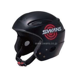 【送料無料】スワンズ(SWANS) H-50JL レーシングヘルメット JL BK(ブラック)