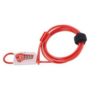 TIOGA(タイオガ) ダブル ループ コンビネーション ロック レッド LKW10903