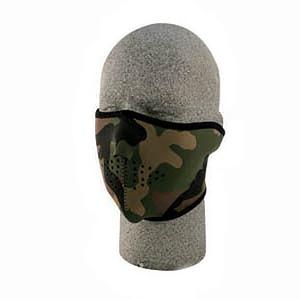 ZAN(ザン) ネオプレン フェイスマスク (ハーフタイプ) ウッドランド カモフラージュ WNFM118H