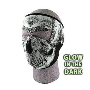 ZAN(ザン) ネオプレン フェイスマスク (フルタイプ) スカル(蓄光タイプ) WNFM002G