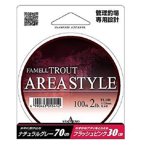 ヤマトヨテグス(YAMATOYO) ファメル トラウト(エリアスタイル)100m 2lb ナチュラルグレー&フラッシュピンク