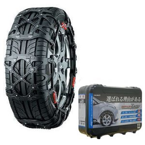 【送料無料】カーメイト(CAR MATE) 非金属タイヤチェーン バイアスロン・クイックイージー 簡単取り付け QE17 ブラック