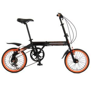 【送料無料】ドッペルギャンガー(DOPPELGANGER) 104 blackbullet II(ブラックバレット) 【16インチ 折りたたみ自転車】 16インチ カーボンブラックxフラッシュオレンジ
