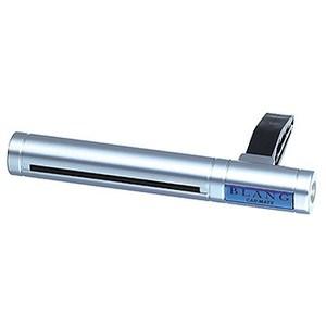 カーメイト(CAR MATE) エアコン吹出口取付タイプの芳香剤 ブラング エアスティック ホワイトムスク シルバー×ブルー H201
