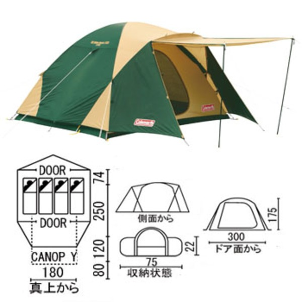 Coleman(コールマン) BCワイドドーム/325 170T16350J ファミリードームテント