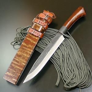 関兼常 関伝古式 和鉄製錬狩猟匠桜巻・両刃 CW-2 和風刃物