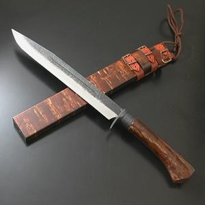 関兼常 関伝古式 和鉄製錬狩猟匠桜巻・両刃 CW-4