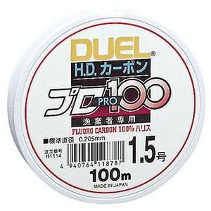 デュエル(DUEL) HDカーボンプロ100S 1.5号 クリアー H1114