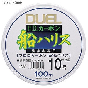デュエル(DUEL) HDカーボン船ハリス大物 50m 40号 クリアー H1254