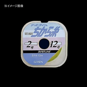ゴーセン(GOSEN) テーパーラインちから糸 5本継 13m 1.5-12号 黄緑 GT-462Y