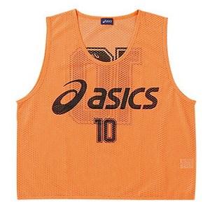 【送料無料】アシックス(asics) ビブス(10枚セット) Junior's フリー 21(フラッシュオレンジ) XSG062