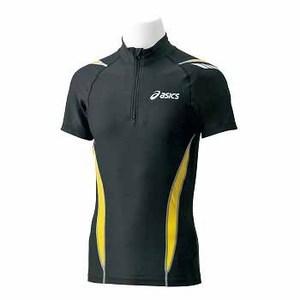アシックス(asics) レーシングハーフジップシャツ M 90(ブラック)