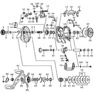 ダイワ(Daiwa) パーツ:TDジリオンHLC 100HL ガードプレートSC(B) NO.032 10A653