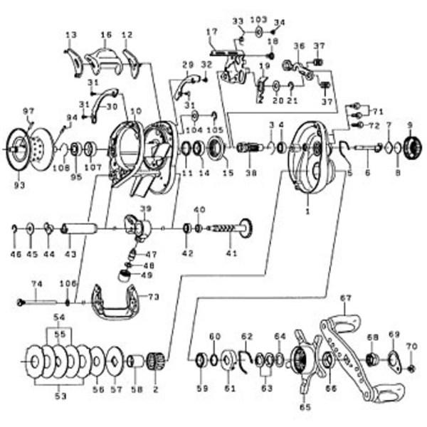 ダイワ(Daiwa) パーツ:TDジリオンHLC 100H RSボールベアリング(CRBB) NO.004 10E218 マグブレーキ用その他パーツ