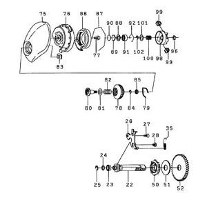 ダイワ(Daiwa) パーツ:TDジリオンHLC 100H スプールホルダーOリング NO.096 10J081