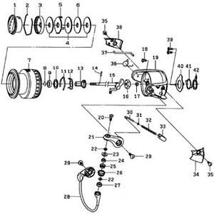 ダイワ(Daiwa) パーツ:シーゲートライト 4000H-PE ドラグリング NO.002 185059
