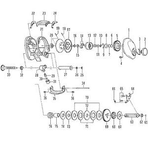 ダイワ(Daiwa) パーツ:SALTISTハードロックフィッシュL スプールホルダー NO.013 132069