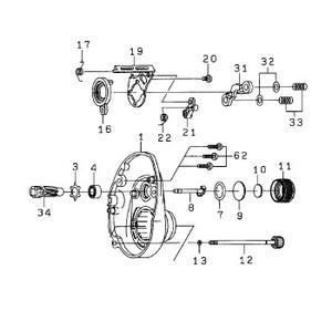 ダイワ(Daiwa) パーツ:バレッタ100H RSプレートSC(A)Oリング NO.013 10J012