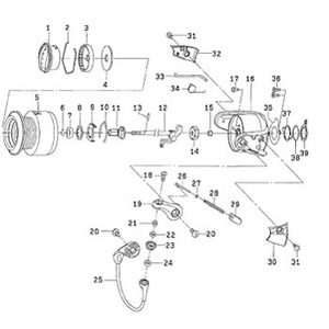 ダイワ(Daiwa) パーツ:フリームス KIX2506 スプールメタルリング NO.006 185116 1000~2500番用スプールパーツ
