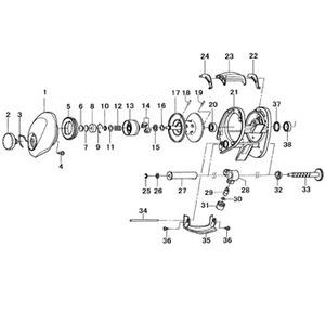 ダイワ(Daiwa) パーツ:SALTISTハードロックフィッシュ スプールホルダー NO.013 132069
