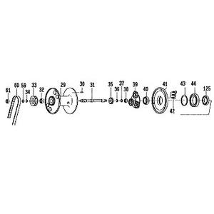 ダイワ(Daiwa) パーツ:レオブリッツ 270MM スプールピン NO.030 156170