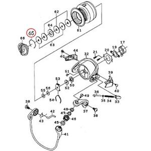 ダイワ(Daiwa) パーツ:レブロスMX 2506 ドラグリング NO.065 185054 1000~2500番用その他パーツ
