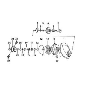 ダイワ(Daiwa) パーツ:アルファスR-エディション 103L スプールホルダーW NO.019 190604
