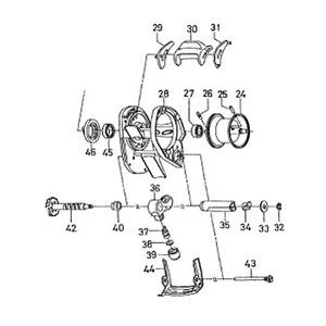 ダイワ(Daiwa) パーツ:アルファスR-エディション 103L レベルワインド NO.036 179108 マグブレーキ用その他パーツ