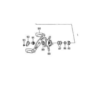 ダイワ(Daiwa) パーツ:アルファスR-エディション 103L ハンドルボールベアリング NO.085 10E086