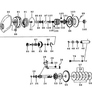 ダイワ(Daiwa) パーツ:TDジリオン7.3リミテッド100 スプールホルダーリティナー NO.108 10F007