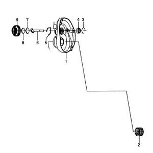ダイワ(Daiwa) パーツ:TDジリオン7.3リミテッド100L メカニカルブレーキリーフSP NO.005 133770